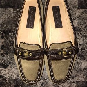 Coach) suede loafers shoes 💐